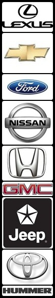 Lexus, Toyota, Chevrolet, Ford, GMC, Nissan, Hummer, Honda, Mercedes, and BMW makes and models